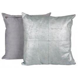 CANETT Aya Dekokissen Silber Metallic 45x45cm 10320