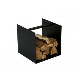 SPINDER Box Kaminholz Aufbewahrung Stahl Schwarz Struktur 40x40x40cm GW565-22