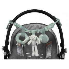 LITTLE DUTCH Adventure Kinderwagen-Kette Hase Mint 4647