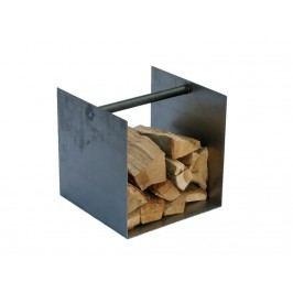 SPINDER Box Kaminholz Aufbewahrung Stahl Natur 40x40x40cm *B-Ware*