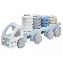 KIDS CONCEPT Lastwagen Steckspiel Blau/Weiß 1000173