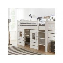 ALTA FURNITURE Hüttenbett mit Gerader Leiter Snow white 90x200cm ALTA furniture