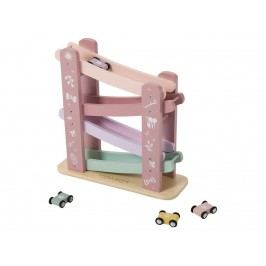 LITTLE DUTCH Holz Rennbahn Adventure Pink 4374