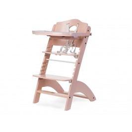 CHILDHOME Treppenhochstuhl mit Gurt Bügel und Tisch Lambda 2, Buche Nude HCLCNU