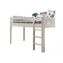 ALTA FURNITURE Halbhochbett mit Gerader Leiter Snow white 90x200cm ALTA furniture 5050-49
