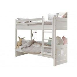 ALTA FURNITURE Etagenbett mit Gerader Leiter Snow white 90x200cm ALTA furniture 5092-49