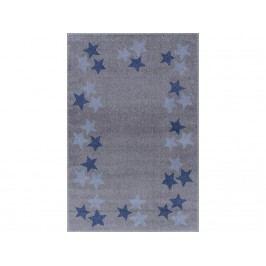 LIVONE Livone Happy Rugs Teppich BORDERSTAR Silbergrau/Blau 120x180cm LT-BorderstarGrauBlau-120